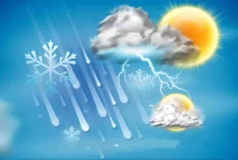 پیش بینی وضعیت آب و هوا (۹۸/۱۱/۰۱)؛ آغاز بهمن با برف و باران و کاهش دما