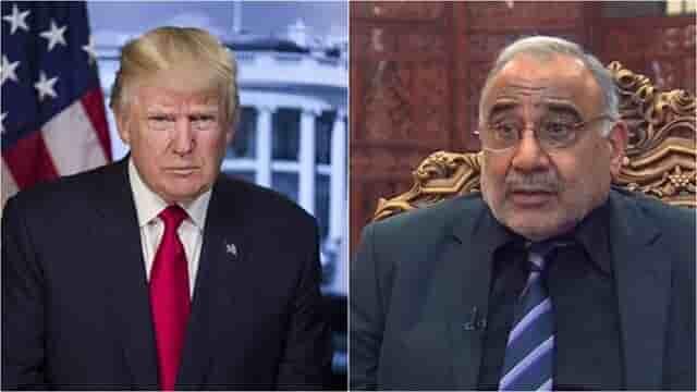 جزئیات تماس تلفنی ترامپ با عبدالمهدیجزئیات تماس تلفنی ترامپ با عبدالمهدی نخست وزیر عراق