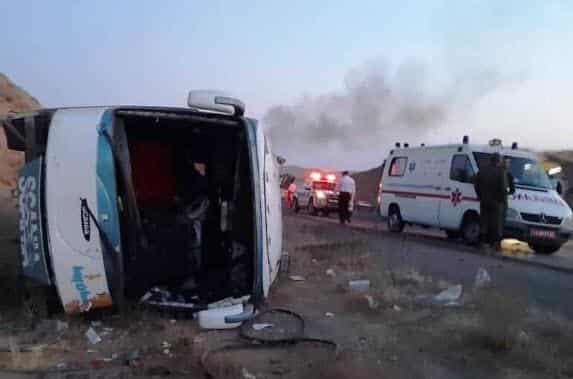 واژگونی اتوبوس در تبریز۲۲ مصدوم و یک کشته بر جا گذاشت