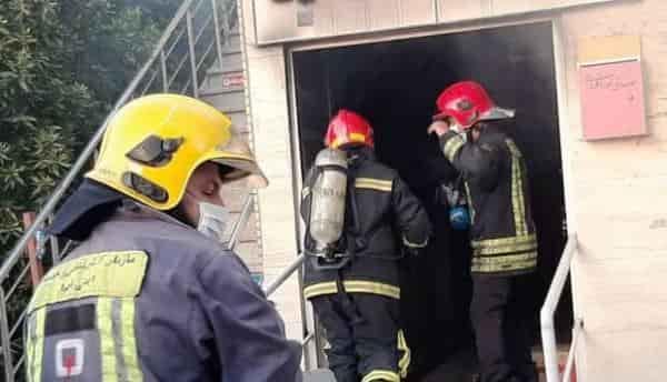 بیمارستان قرنطینه بیماران کرونا در اهواز آتش گرفت