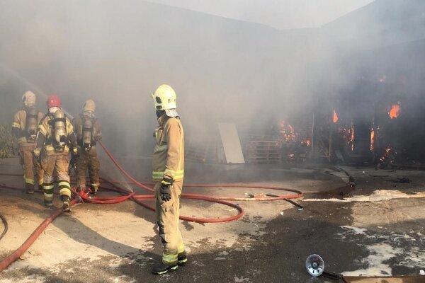 جزئیات آتش سوزی گسترده در شهرک صنعتی جاجرود