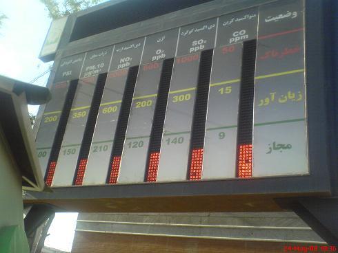 خاموش بودن سنجشگرهای آلودگی هوا در اصفهان