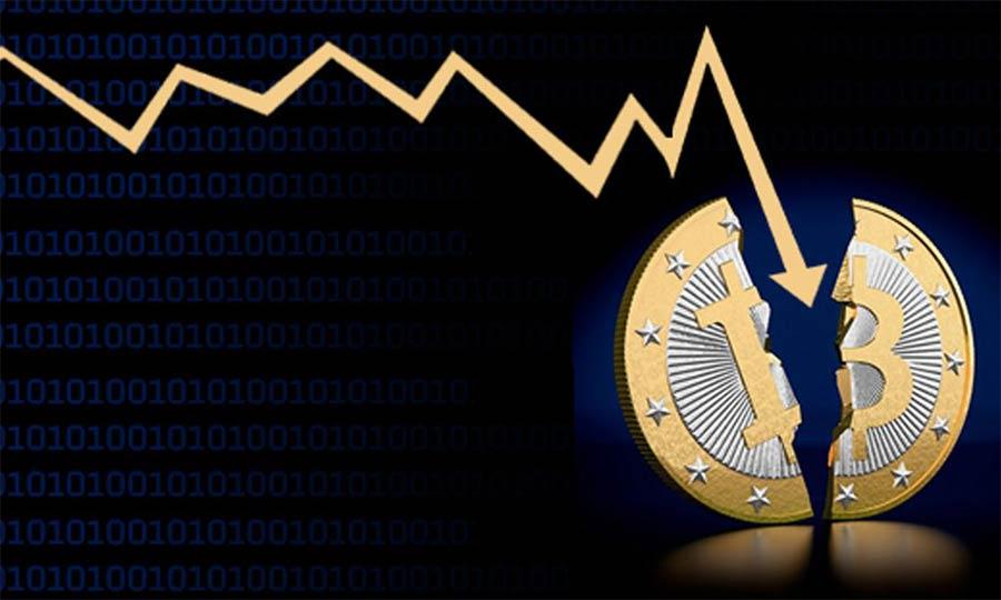 کاهش قیمت بیت کوین