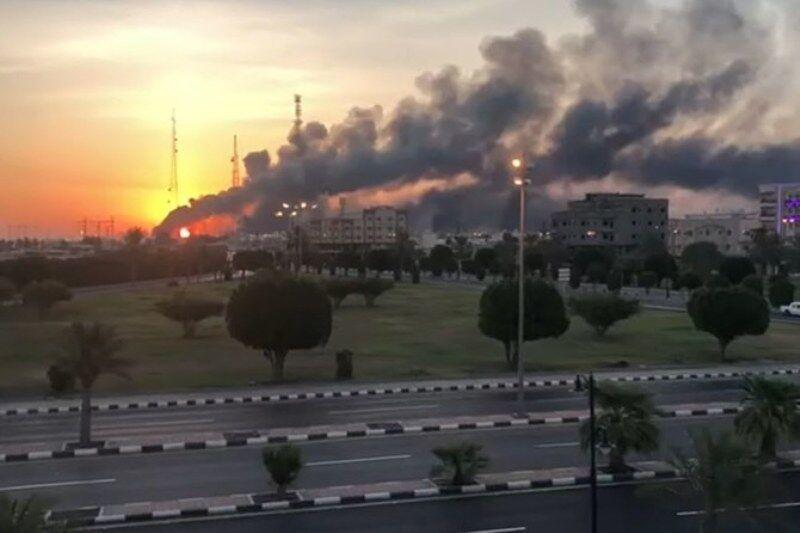 حمله حوثی ها به تاسیسات نفتی عربستان